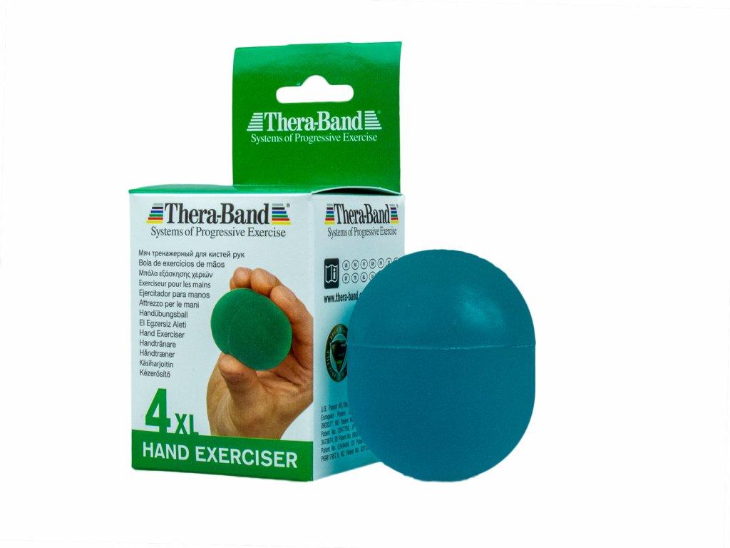 Thera-Band Hand Exerciser XL - posilňovač ruky - gélová gulička, zelená - stredne mäkká