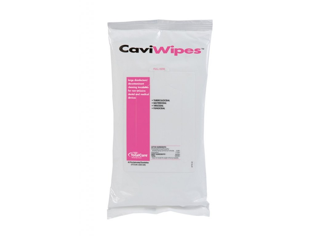 Dezinfekčné obrúsky CaviWipes 17,5 cm x 22,5 cm, 45 ks