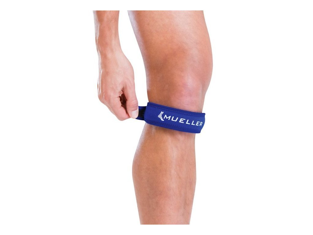 Mueller Jumper's Knee Strap Blue, podkolenná páska modrá