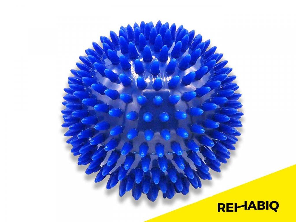 Rehabiq Masážna loptička ježko, modrá 10 cm