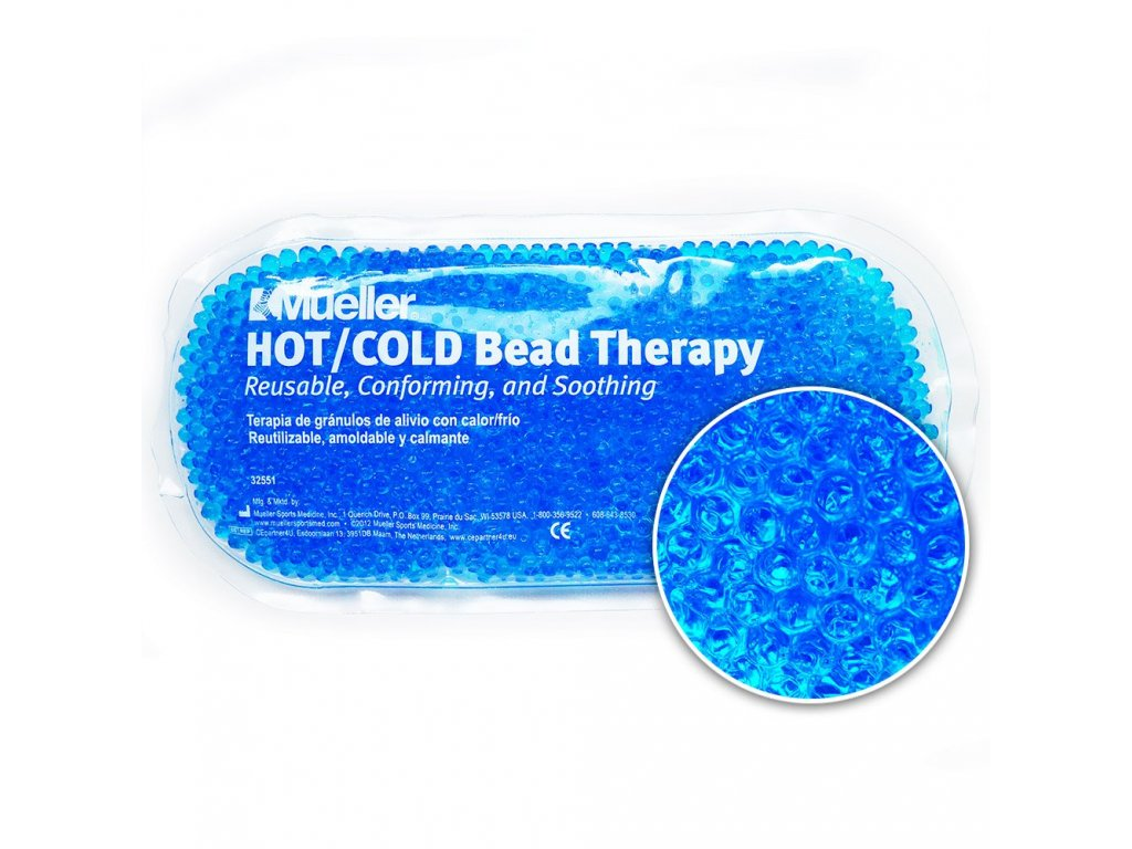 Mueller Hot / Cold Bead - Chladivý / hrejivý sáčok s gélovými perličkami - modrý