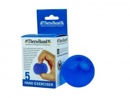 Thera-Band Hand Exerciser - posilňovač ruky - gélová gulička, modrá - tvrdá