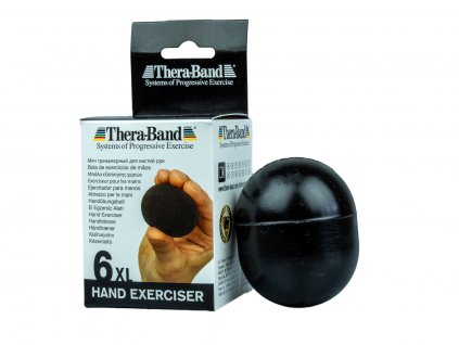 Thera-Band Hand Exerciser XL - posilovač rukou gelové vajíčko, černé - velmi tvrdé