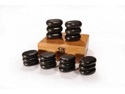 Hot Stones - sada 18 lávových kameňov