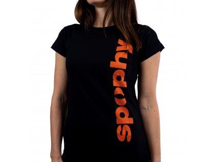 Spophy T-Shirt, tričko s nápisom Train Physio Sleep Repeat, dámske