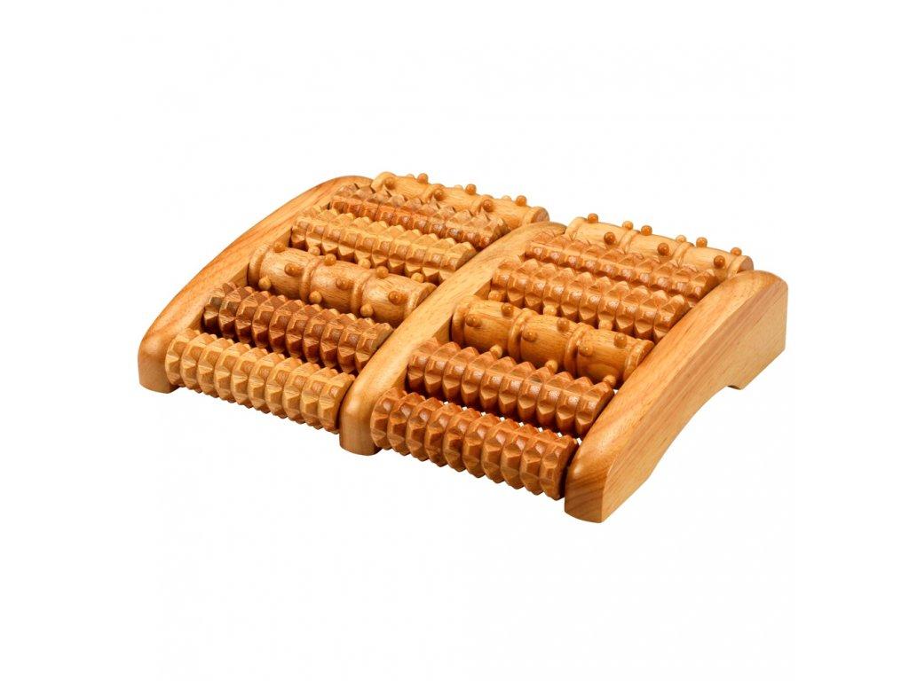 Dřevěný nožní masér