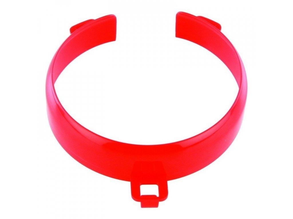 Vyvýšený okraj na talíř, červený