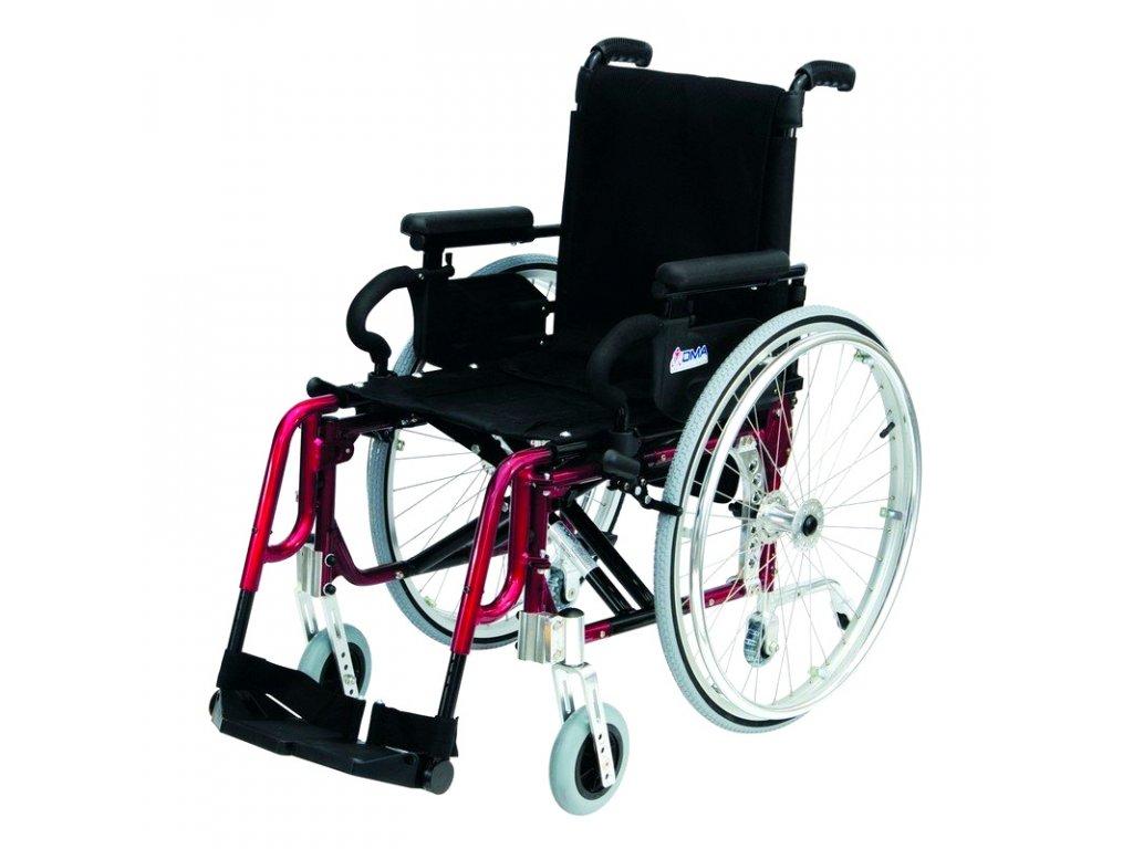 Invalidní vozík variabilní, Basic Light Plus - Red