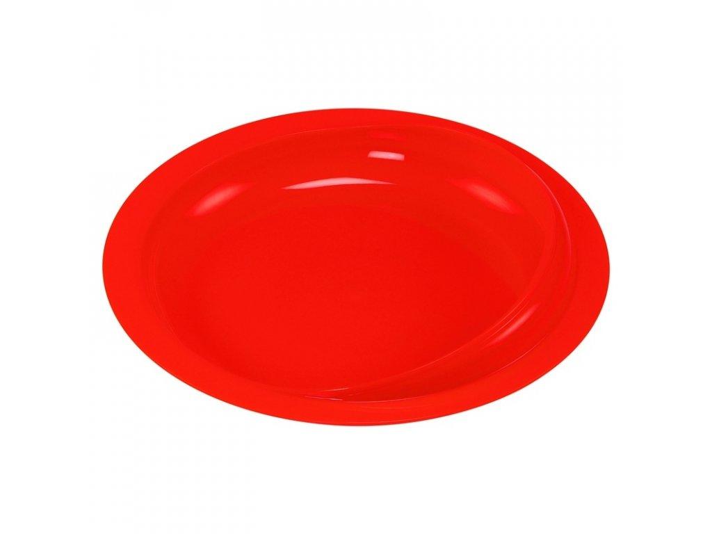 Talíř s vyvýšeným okrajem, červený