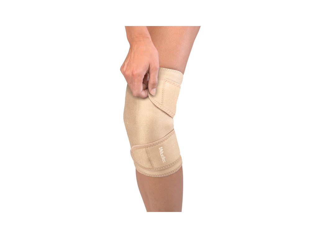 Mueller Closed Patella Knee Support, bandáž na koleno, uni, béžová