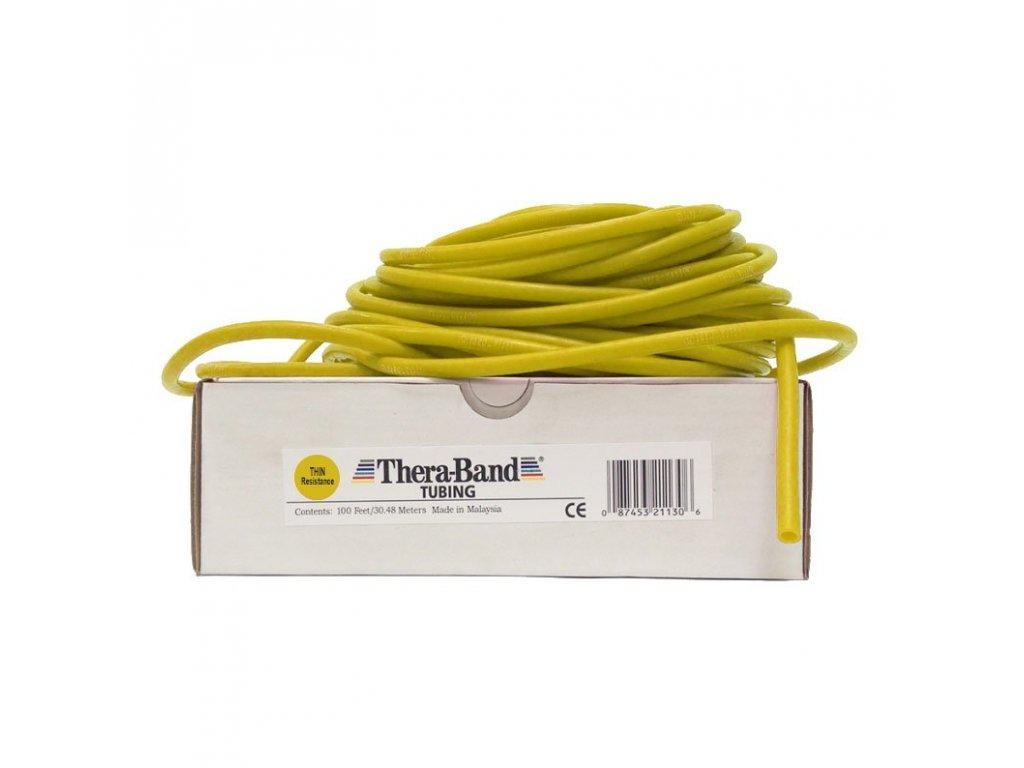 Thera-Band Tubing 30,5 m, žlutá, slabá