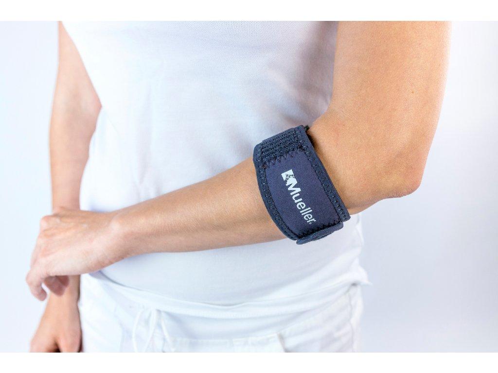 Mueller Adjust-to-fit tennis elbow support, pásek na tenisový loket s gelovým polštářkem