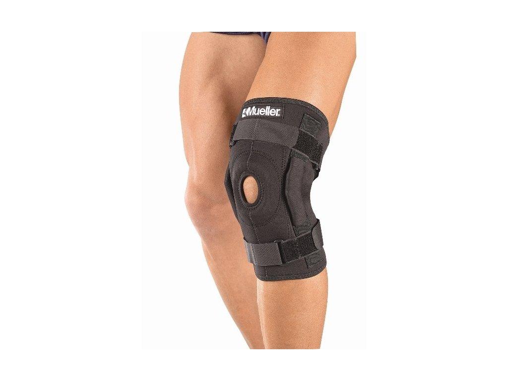Mueller Hinged Wraparound Knee Brace, kolenní ortéza s kloubem, ovinovací  + Dárek dle vašeho výběru