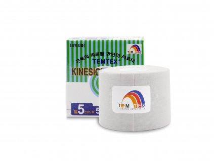 Temtex kinesio tape Classic, bílá tejpovací páska 5cm x 5m