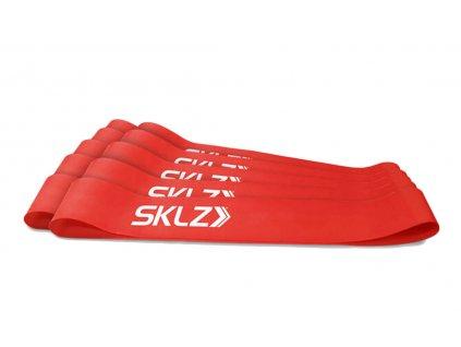 SKLZ Mini Bands - Red, posilovací smyčka červená (střední), 10 ks