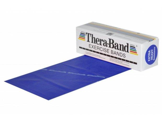THERA-BAND posilovací guma 5,5 m, modrá, extra silná