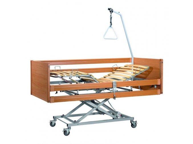 Casa Med II - Elektrická polohovací postel - dřevěná