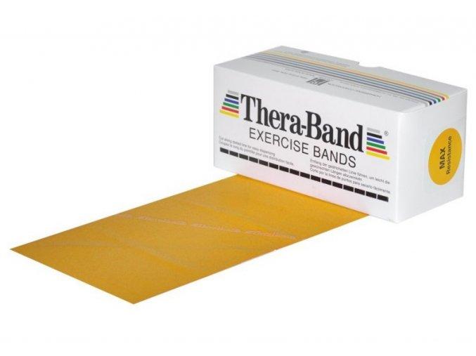THERA-BAND posilovací guma 5,5 m, zlatá, max. silná