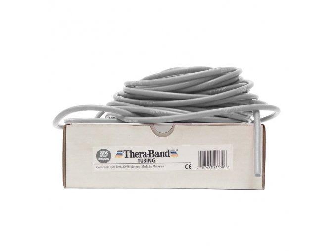 THERA-BAND Tubing 30,5 m, stříbrná, super silná
