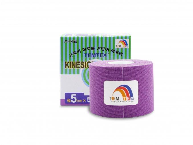 TEMTEX kinesio tape Classic, fialová tejpovací páska 5cm x 5m