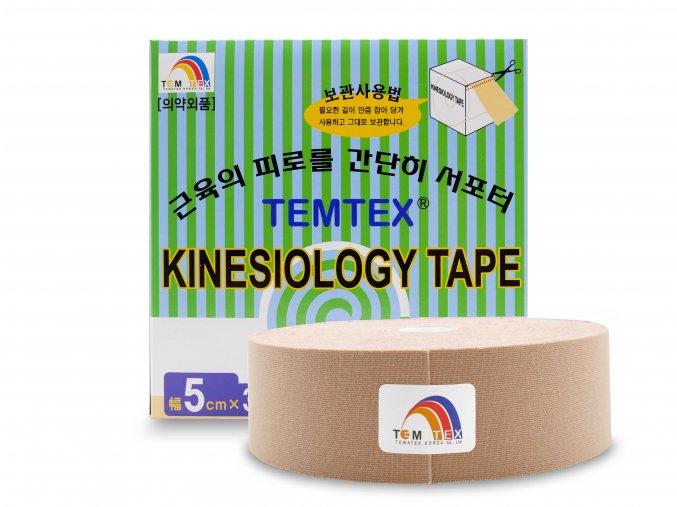 Temtex kinesio tape Classic XL, béžová tejpovací páska 5cm x 32m - EKONOMICKÉ BALENÍ