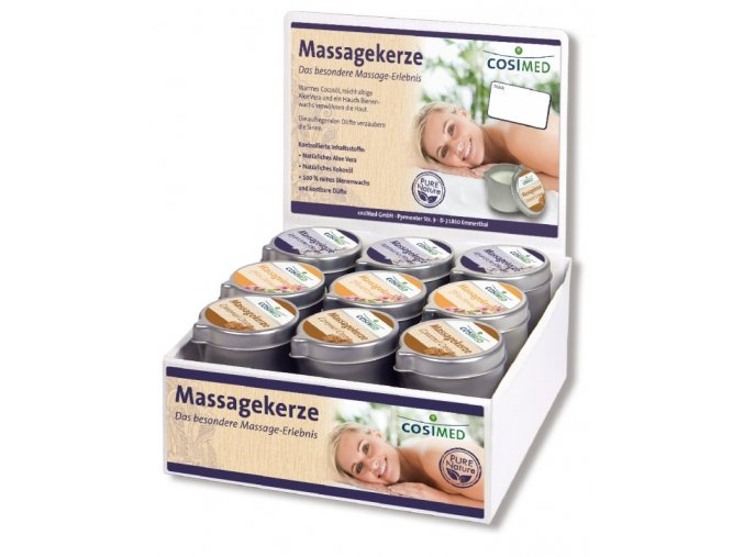 cosiMed prodejní set masážních svíček - 18 x 40 g