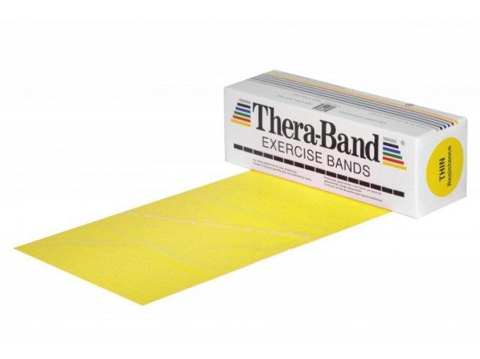 THERA-BAND posilovací guma 5,5 m, žlutá, slabá