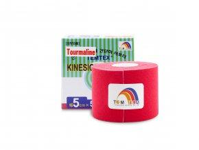 Temtex kinesio tape Tourmaline, červená tejpovací páska 5cm x 5m
