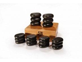 Hot Stones - sada 18 lávových kamenů  + Dárek dle vašeho výběru