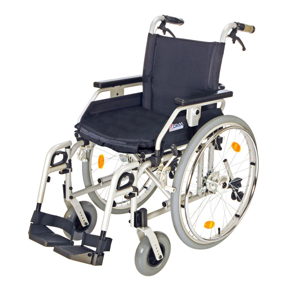 Invalidní vozík s brzdami, 108-23 Šířka sedu: 46 cm