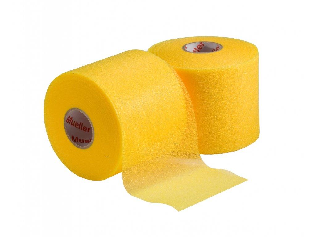 Mueller MWrap® Colored, podtejpovací molitanová páska zlatá 7 cm x 27,4 m