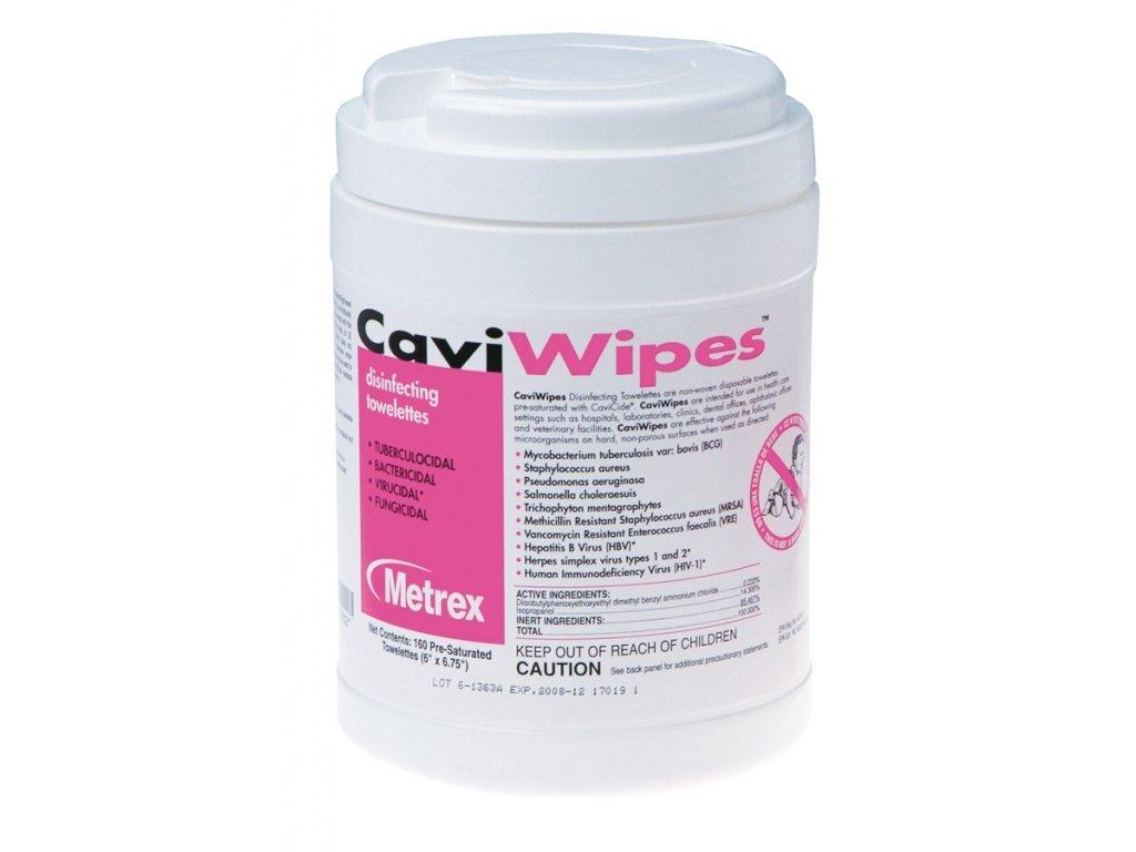 Dezinfekční ubrousky CaviWipes, 15,2 cm x 17,1 cm, 160 ks, dóza