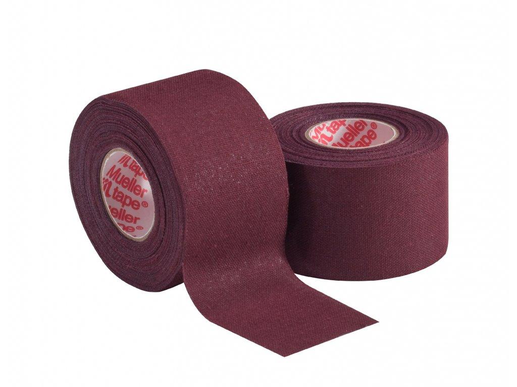 Mueller MTape® Team Colors, fixační tejpovací páska 3,8cm, kaštan