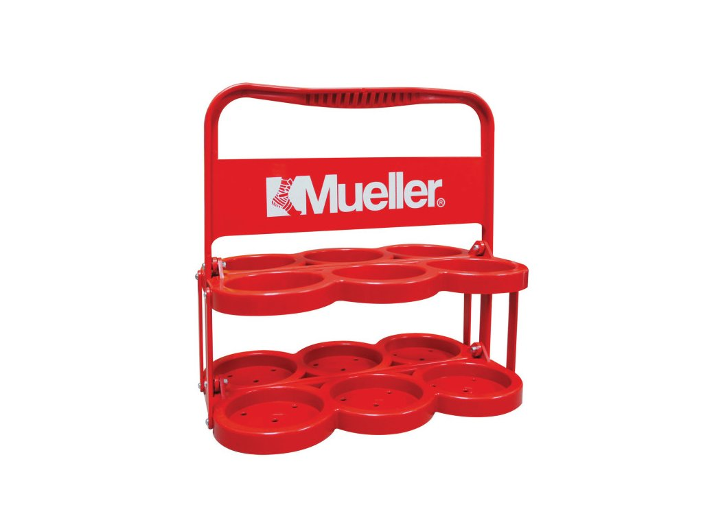 Mueller Plastic Water Bottle Carrier Red, nosič na lahve, plast