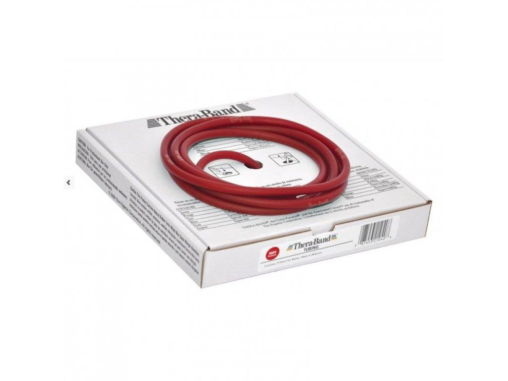 Thera-Band Tubing 7,5 m, červená, středně silná