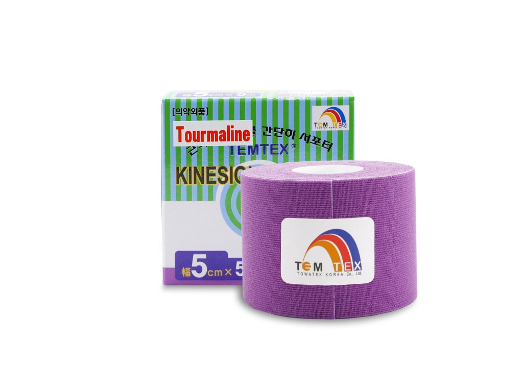 TEMTEX kinesio tape Tourmaline, fialová tejpovací páska 5cm x 5m