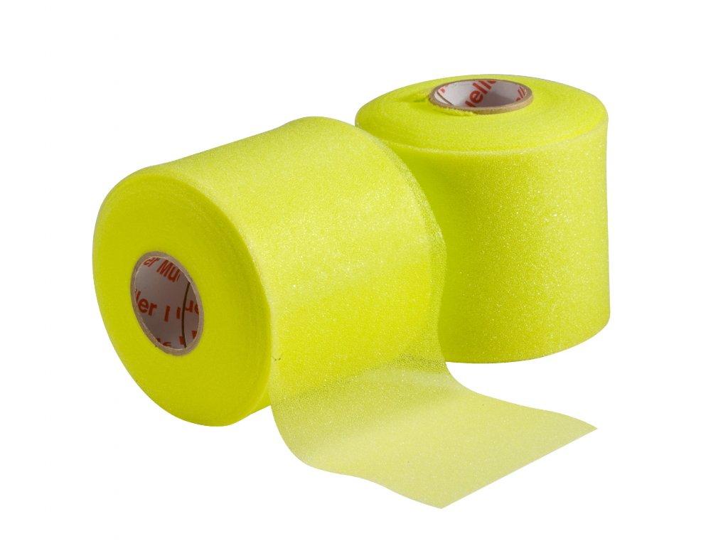 Mueller MWrap® Colored, podtejpovací molitanová páska žlutá 7 cm x 27,4 m