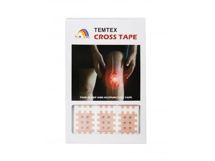 TEMTEX Cross tape, béžový 2,1 cm x 2,7 cm - 180 ks