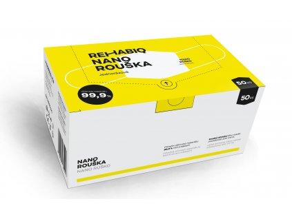 České jednorázové nano roušky Rehabiq s účinností 12 hodin, 50 ks