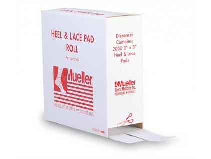 Mueller Heel & Lace Pads Pre-cut, polštářky do bot, zásobník 10 ks