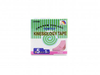 TEMTEX kinesio tape Classic, růžová tejpovací páska 5 cm x 5 m