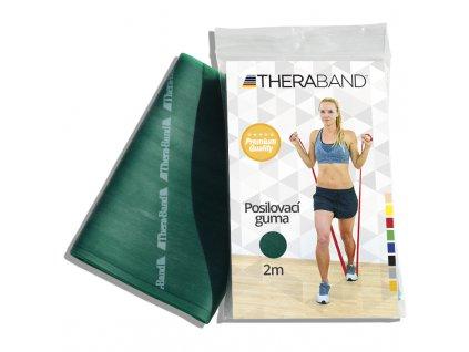 Posilovací guma Thera Band, 2m, zelená silná