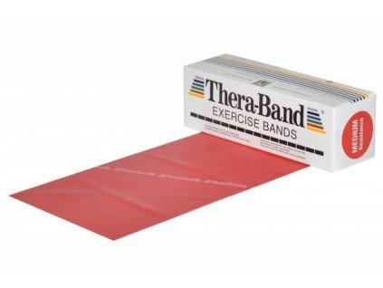 THERA-BAND posilovací guma 5,5 m, červená, středně silná