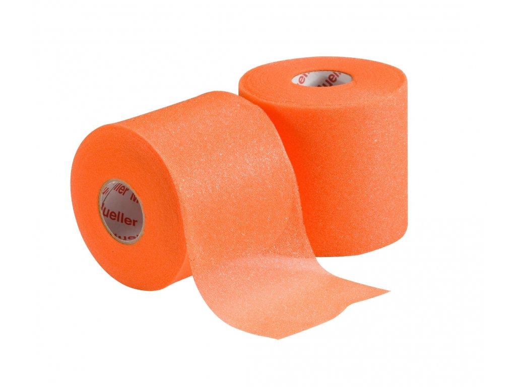 Mueller MWrap® Colored, podtejpovací molitanová páska oranžová 7 cm x 27,4 m