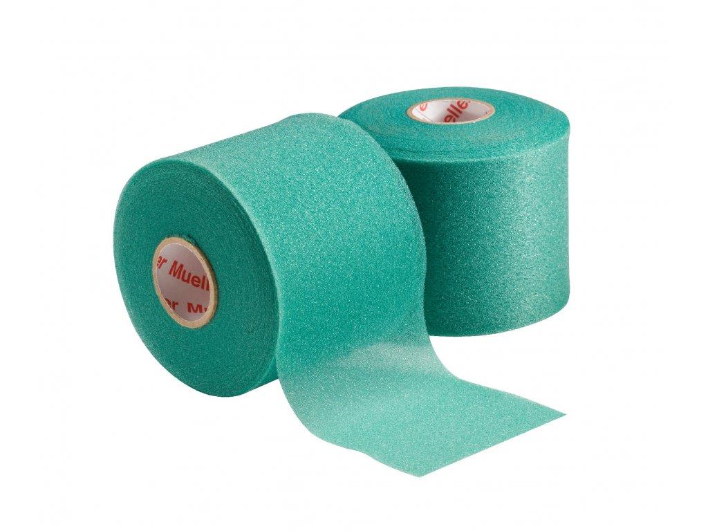 Mueller MWrap® Colored, podtejpovací molitanová páska zelená 7 cm x 27,4 m