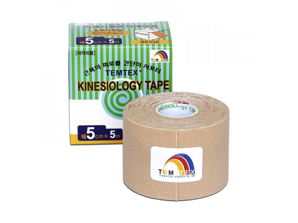 TEMTEX kinesio tape Classic, béžová tejpovacia páska 5cm x 5m