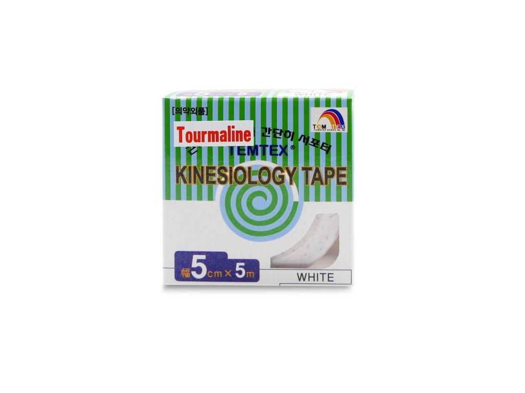 TEMTEX kinesio tape Tourmaline, bílá tejpovací páska 5 cm x 5 m