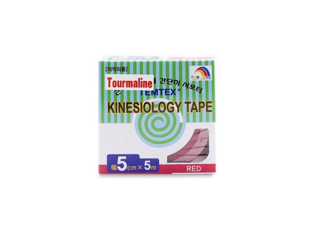 TEMTEX kinesio tape Tourmaline, červená tejpovací páska 5 cm x 5 m