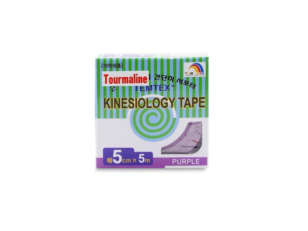 TEMTEX kinesio tape Tourmaline, fialová tejpovací páska 5 cm x 5 m