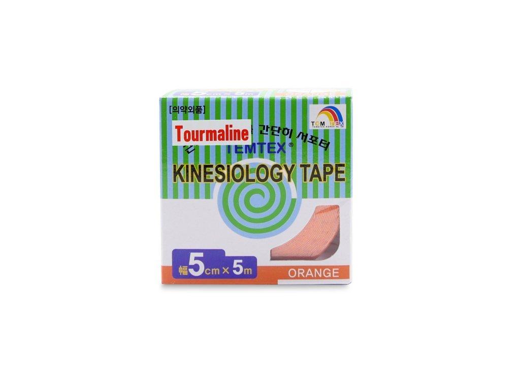 444 temtex kinesio tape tourmaline oranzova tejpovaci paska 5cm x 5m